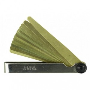 Szczelinomierz plytkowy mosiezny 8-0,05-0,50 Limit 67921007